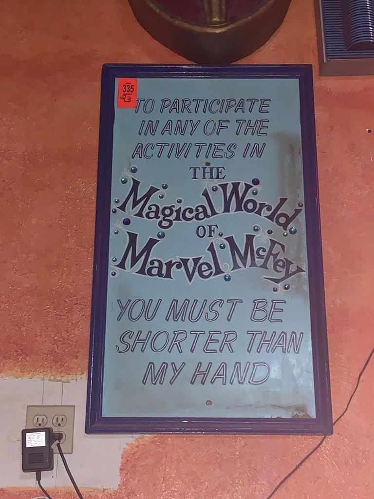 Magical World of Marvel McFey Sign