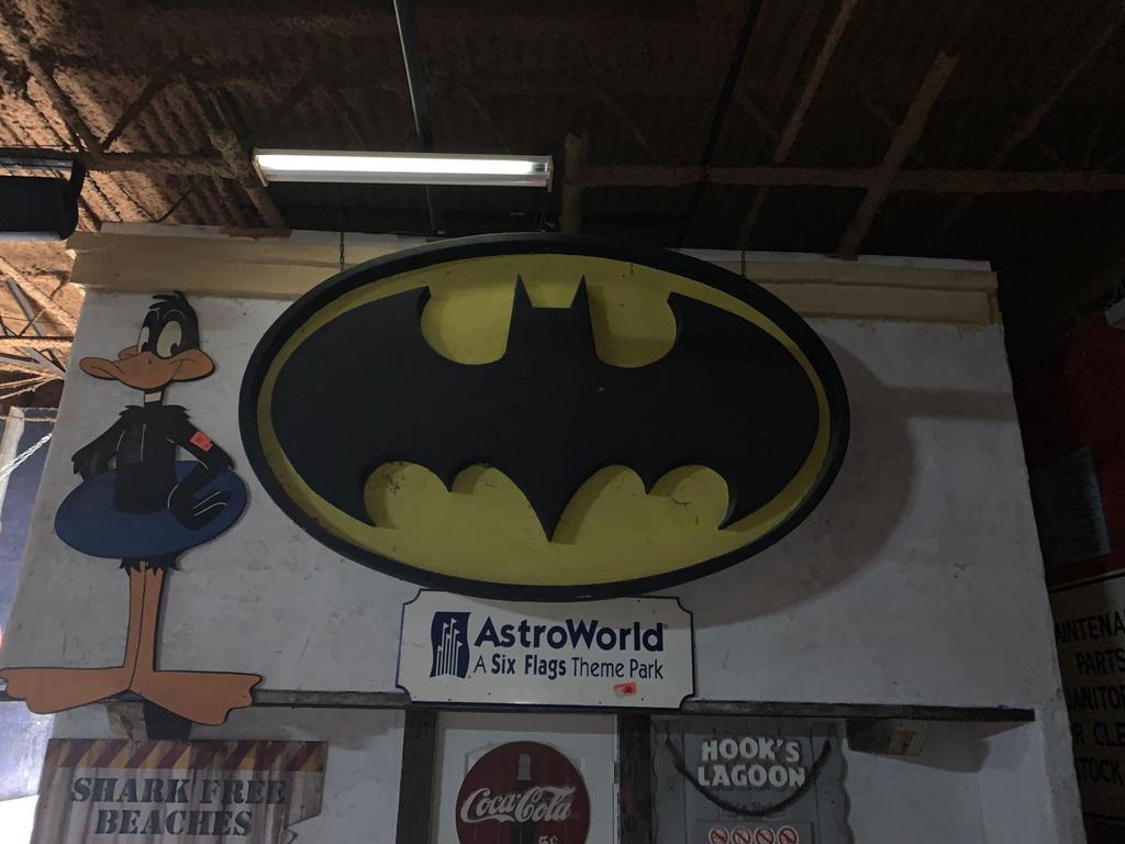 """Batman Fiberglass Sign From """"Batman The Escape"""" Ride Entrance"""