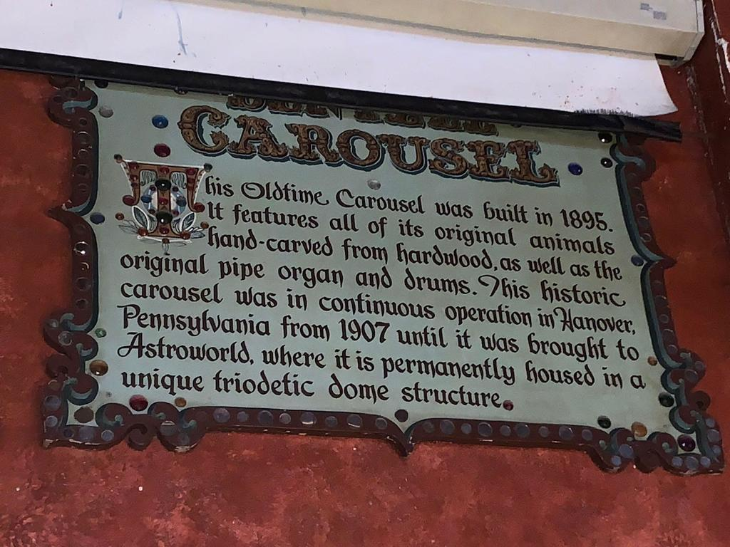 Carousel Description Sign
