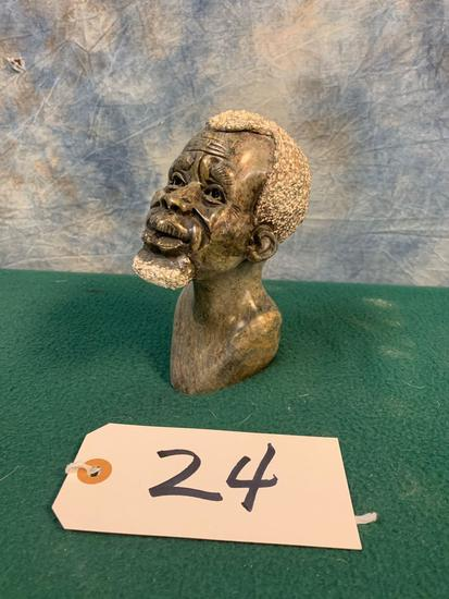 Bust African Soap Stone Head