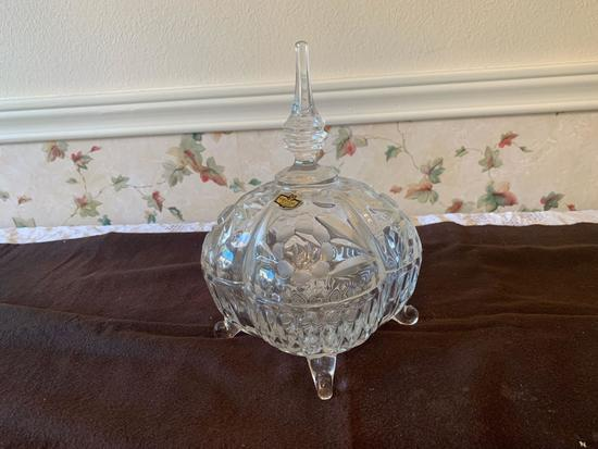 Jazecar Crystal Candy Dish with lid
