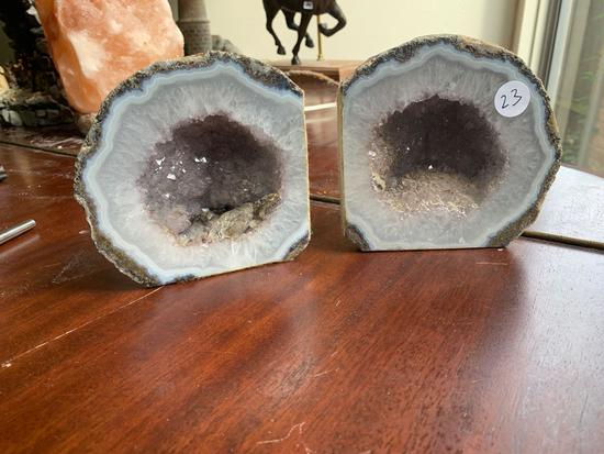 Geode bookend set