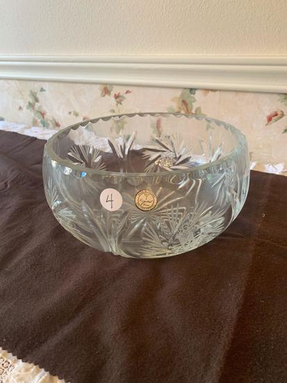 Polish Crystal Serving Bowl