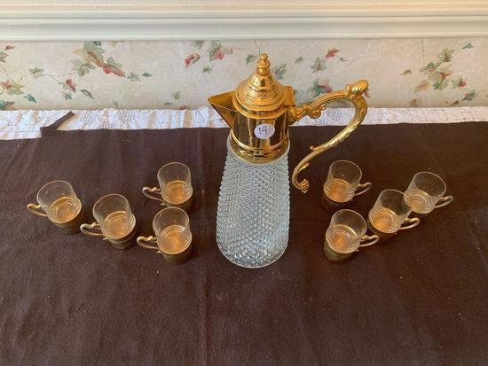 Crystal tea service for 8