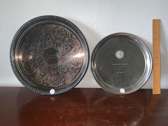 Pair of vintage tennis awards