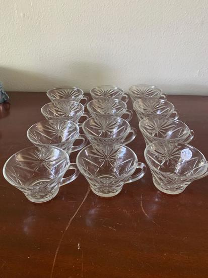 12 piece Crystal Punch Cup Set