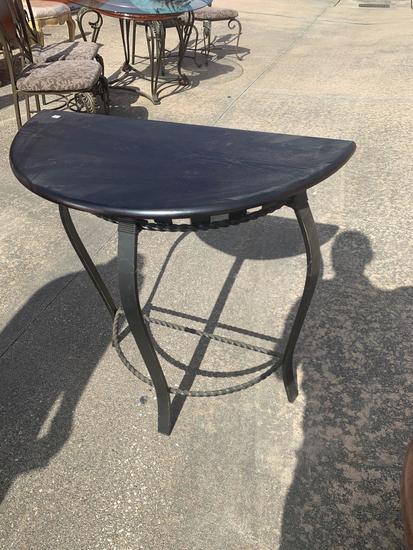 Wood and iron hall table
