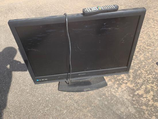 Emerson LC320EM1F television with remote control