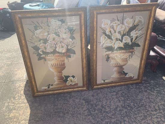 Qty of two framed prints on board