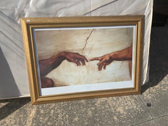 Framed print on board