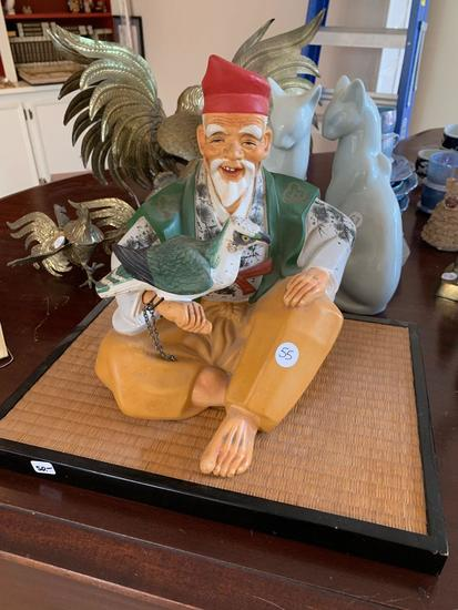 Asian Ceramic Falconer Statuette