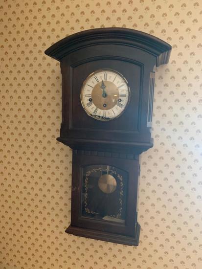 Ethan Allan manual wall clock