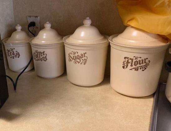 Four piece kitchen storage set