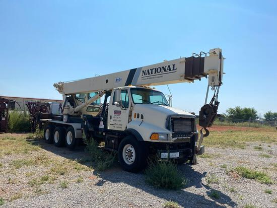 2002 Sterling LT9500 Tri-A Crane Truck w/National 1500 Series Crane