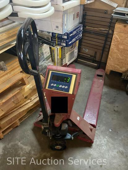 5000 Pound Pallet Jack with Electronic Scale