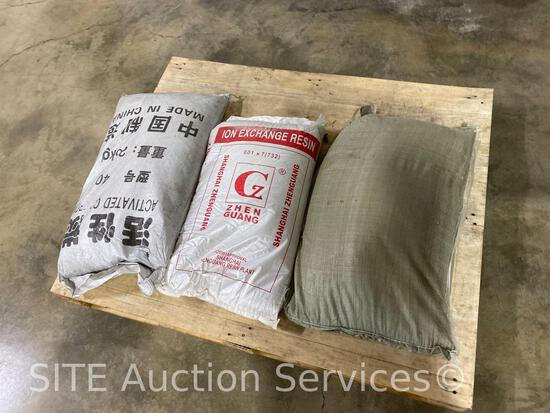 1 40# Activated Carbon, 1 25# Shanghai Zhenguang...Ion Exchange Resin, 1 40# filtering sand