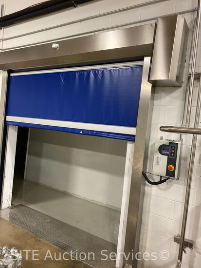 Electric, 8x8 ft opening, stainless components, motion sensor commercial door