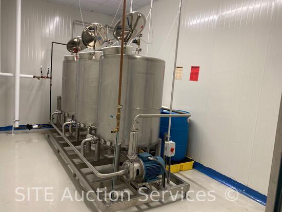 Three Tank Stainless Steel Sanitation System