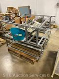 Qty of commercial shelving and sink