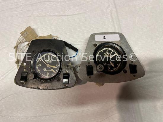 Qty of 2 Aerosonic Beechcraft 12-Hour Clock