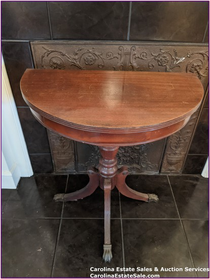 Antique Half Side Table, Flush to Wall