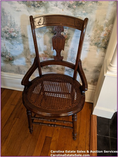 Antique Side Chair, Cane Seat