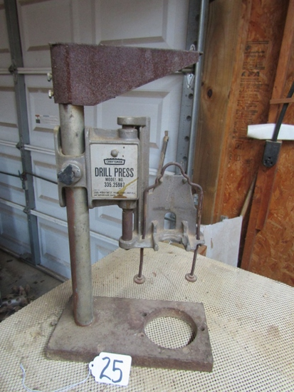 Vtg Craftsman Model 335.25987 Bench Top Drill Press Stand For 1/2? hiDrill ( Pick Up Only )