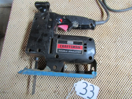 "Vtg Sears Craftsman Scroller Saw W/ 5/8"" Stroke Variable Speed"