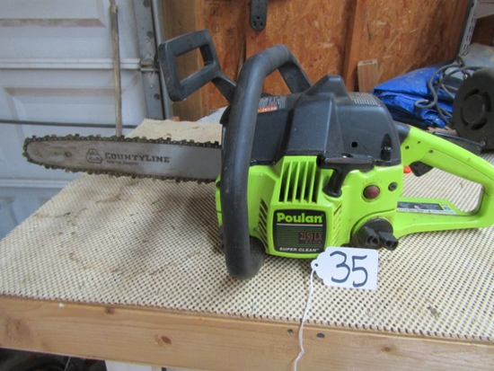"Gas Powered Poulan 2150 L X With 14"" Blade  ( Pick Up Only )"
