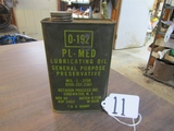 Vtg Circa 1969 MILITARY 0-192 P L - M E D Weapons Oil Can Lubricant ( Pick Up Only )