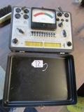 Vtg Triplett Model 3413 - B Vacuum Tube Tester In Metal Case