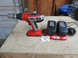 Black And Decker Firestorm 18 V Power Drill W/ 2 Batteries And Double Battery Charger