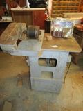Vtg Cylinder Sander And An Additional Side Sander In A Work Table  ( Pick Up Only )