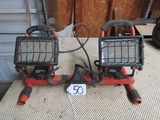 Double Work Lights In Metal Stand  ( Pick Up Only )