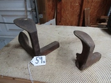 2 Antique Cast Iron Cobbler's Anvils  ( Pick Up Only )