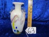 Murano Reverse Painted Vase