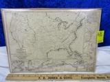 Vtg Reproduction Of A 1861 Miitary Map Of The United States