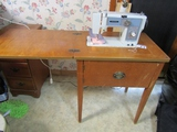 Universal Sewing Machine In Cabinet Including Contents  ( Pick Up Only )