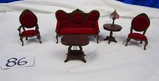 Nice Set Of Doll House Victorian Style Furniture