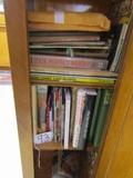 Cabinet Full Of Cookbooks And Recipes  ( Pick Up Only )