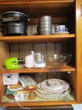 Cabinet Lot: Chopper, Sifter, Corn Cob Shucker, Fryer, etc  ( Pick Up Only )