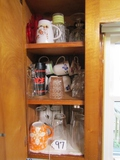 Cabinet Lot Of Porcelain and Glass  ( Pick Up Only )