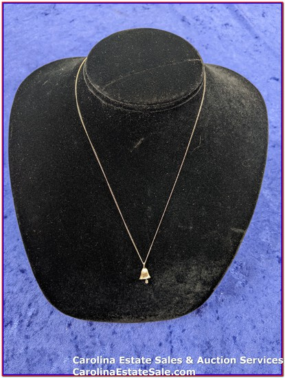 """Necklace White Gold Italy Stamped 14k (Approx Size: 18"""") - Pendant Stamp Unknown"""