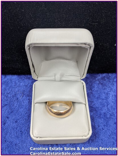 14K Gold Wedding Band (Approx Size: 8.5)