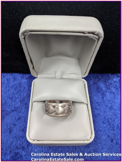 Ring - Sterling Band (Approx Size: 6.5)