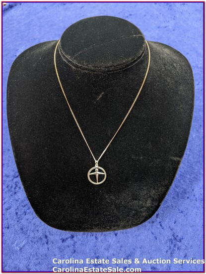 """Tiffany & Company Pendant & Sterling Chain (Approx Size: 16"""")"""