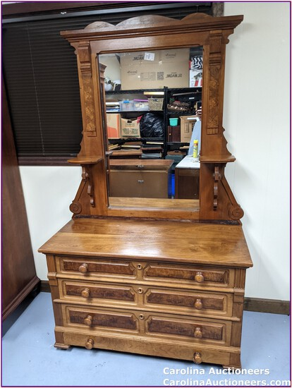 Antique Victorian Dresser with Mirror