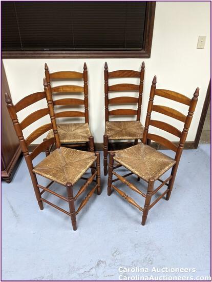 4 Beautiful & Sturdy Ladder Back Chairs