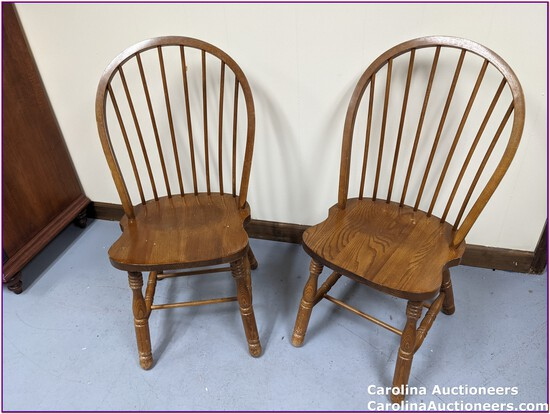 2 Beautiful Wooden Chairs