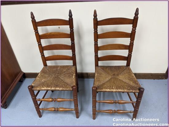 2 Beautiful & Sturdy Ladder Back Chairs